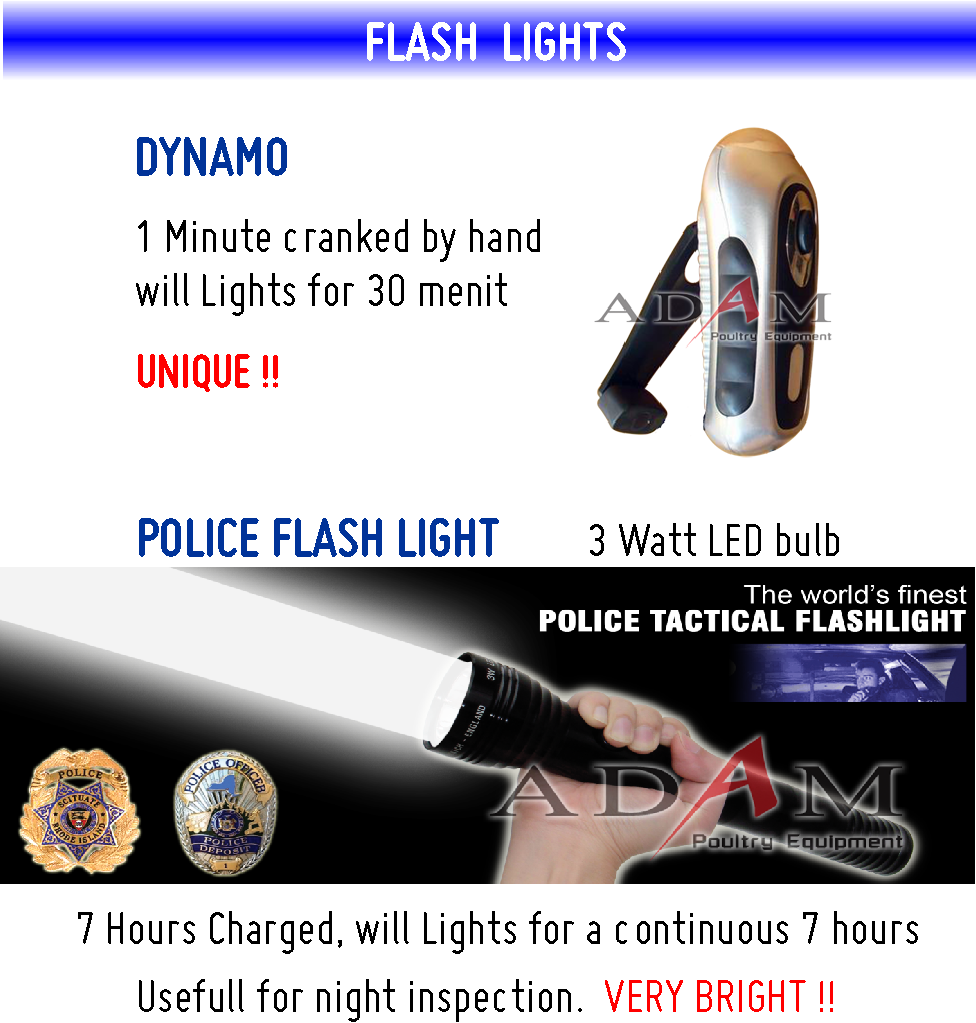 Adam Poultry -  Police Dynamo Flash Lights